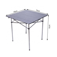 Quality Aluminum Roll Up Top Compact Foldable Outdoor Table for Patio wholesale