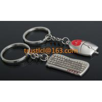 China Wholesale metal keyboard and mouse key chain,  couple keychain, unique keychain on sale