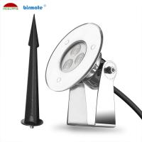 China Waterproof IP68 Outdoor Led Pin Lights , 24V 3W LED Recessed Pin Light For Park Garden on sale