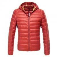Quality Cheap Men stock clothing,down feather zipper coats & Brand winter down jacket with hoodie wholesale