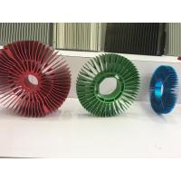Cheap Red Anodized Aluminum Sunflower Radiator Led Cylindrical Heat Sink for Tracking for sale