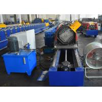 Quality Storage Rack Vertical Post Section Roll Forming Machine With Punching Unit For Various Patterns wholesale