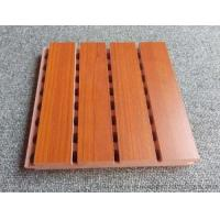 Quality Custom Solid Wooden Grooved Acoustic Panel Sound Asorption Board For Music Room wholesale
