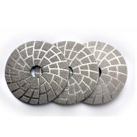 Quality 4 Inch Vacuum Brazed Diamond Tools Stone Polishing Pads OEM / ODM Available wholesale