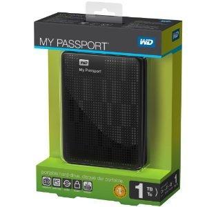 Quality Western Digital My Passport 1 TB USB 3.0 Portable Hard Drive - WDBBEP0010BBK-NESN (Black) wholesale