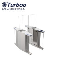 Buy cheap Tempered glass Half Height Speed Gate Turnstile Security Rfid Card Reader from wholesalers
