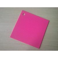 China Food-safe Square Silicone Heat Resistant Mats , Non-stick Silicone Trivet on sale