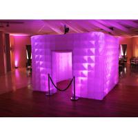 Quality Lighting Wedding Inflatable Photo Booth Enclosure Portable Props For Party wholesale