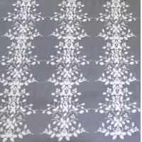 Quality Stereoscopic Multi-color Leafy Pattern Embroidery Lace Fabric for garment wholesale
