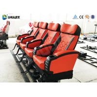 Quality Motion 4d Movie Theatre Spray Air , Spray Water , Push Back Fiber Glass Material wholesale