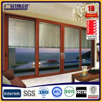 China aluminum door with blinds inside the glass on sale