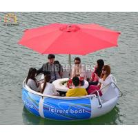 Quality 4 Km / H Water Bumper Boats , Leisure Bbq Donut Boat 6 People Capacity wholesale