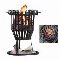 Quality Charcoal BBQ Grills with 18 Basket Stripes, Made of Steel wholesale