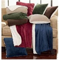 Quality Soft & Chic Sherpa / Micro Mink Plush Blanket And Throw wholesale