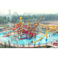 Quality Big Interactive Fiberglass Water Play House With Water Slide / Aqua Park Equipment wholesale