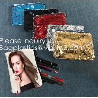 Quality Heat Transfer Blank Magic Sequin Small Hand bag For Sublimation Printing,Sublimation Multicolor Sequin Bag Blanks  pack wholesale