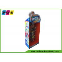 Buy cheap Promotion Retail Corrugated Cardboard Hooks Floor Display Rack For Toys HD046 from wholesalers