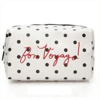 Polyester Cosmetic Storage Bags With White Zipper / Logo Printing 21*10*5cm