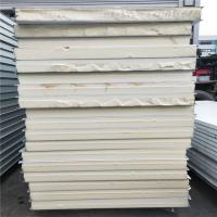 China 75mm color coated PU sandwich panel 5950 x 1150mm for prefabricated house on sale