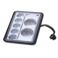 Buy cheap Die cast aluminum Off-road heavy Duty Truck Square LED Headlight 6x4 inch product