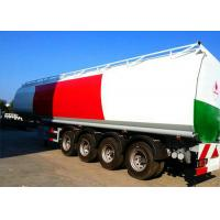 Quality 4 Axle 60K Liter Diesel Tank Semi Trailer With First Axle Lifting Aire Bag Spring wholesale