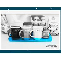 Quality Transparent Blue Acrylic Service Tray 230mm X 325mm X 30mm wholesale