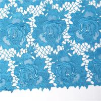 Quality F50214 flower design embroidery nigerian guipure lace fabric for wedding dress/ garment/ suit wholesale