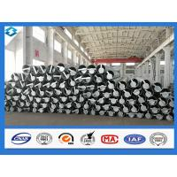 Quality 70FT 5mm Thick Q420 Galvanized and Black Tar Painted Electric Steel Poles wholesale
