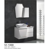 Quality Waterproof Bathroom Sinks And Vanities / Modern Bathroom Vanities MDF Material wholesale