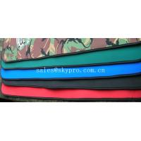 Quality Good flexibility Red / green / black neoprene fabric Roll with polyester coating wholesale