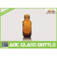 Cheap 15ml Amber Boston Round Flat Glass Cough Syrup Bottle for sale