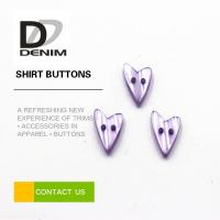 Quality Water Resistant Colored Shirt Buttons Heart Shaped For Women Clothing wholesale
