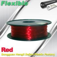Quality TPU Flexible 3d Printing Filament 1.75 / 3.0 mm  Red and Transparent wholesale