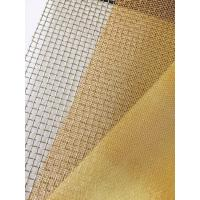 "Cheap 180Mesh Plain Weave Brass Mesh with 0.05 & 0.06mm Wire, 36"" & 48"" Width for sale"