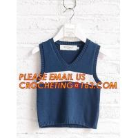 Quality Hot sale sleeveless, hand knit baby boys stylish sweaters, Fashion clothing kids knit vest pattern child sleeveless swea wholesale