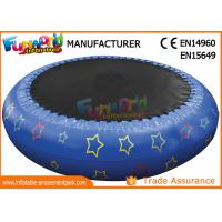 Quality 0.9mm PVC Hot Welding Inflatable Water Toys / Blow Up Trampoline With Logo Printing wholesale