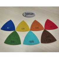 Quality Green Triangle Corner Diamond Floor Polishing Pads , Electroplated Metal Bond Pads wholesale