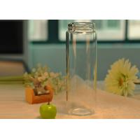Quality Light borosilicate thermal insulation double wall glass bottle for drinking , Easy carry wholesale