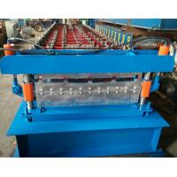 Quality Steel Roofing Sheet Roll Forming Machine PPGI GI IBR Trapezoid , Roof Sheet Rolling Machines wholesale