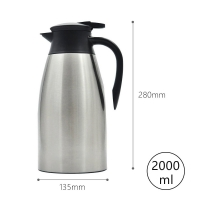 Buy cheap Leak Proof Stainless Steel 68 Ounce Vacuum Insulated Teapot from wholesalers