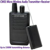 Quality CW03 Micro Wireless Audio Transmitter+Receiver Listening Bug 500M Remote Sound Monitor wholesale
