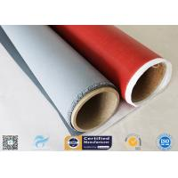Quality Single Side 520g Silicone Coated Fiberglass Fabric Red Fireproof Cloth 0.45mm wholesale