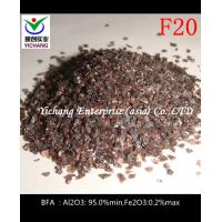 China Sandblasted F16,F20 Brown Aluminum Oxide With Moderate Hardness on sale