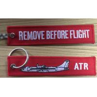 Buy cheap ATR Remove Before Flight Fabric Embroidery Keychain Keyring from wholesalers