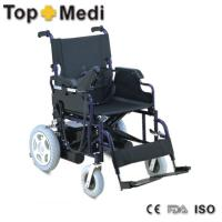 Quality Hot Sales Fashion Battery Operated Electric Wheelchair Foldable Frame Rubber Foam Castor wholesale