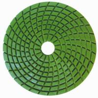 Quality Concrete Wet Polishing Pads / 4inch Diamond Grinding Pads Circle Type wholesale