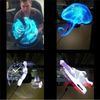 Quality Electronic Hologram Projector 3D LED Holographic Advertising Display Fan 42cm Diameter wholesale