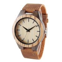 Quality Natural Rosewood Wooden Quartz Watch Hand Craft Mineral Glass Long Lifespan wholesale