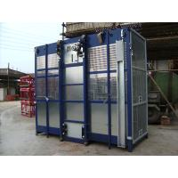 Quality Blue SC200 / 200 Twin Cage 3200kg Personnel Hoist and Material Lifts for Mining Wells wholesale