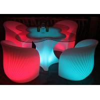 Buy cheap Glowing Garden Furniture Type 4 LED Bar Chair And 1 Table Set Eco Friendly from wholesalers